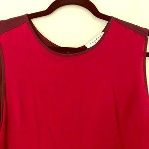 Sandro Red & Maroon sleeveless top -back is maroon